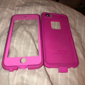 Pink lifeproof case IPhone 6s or 7